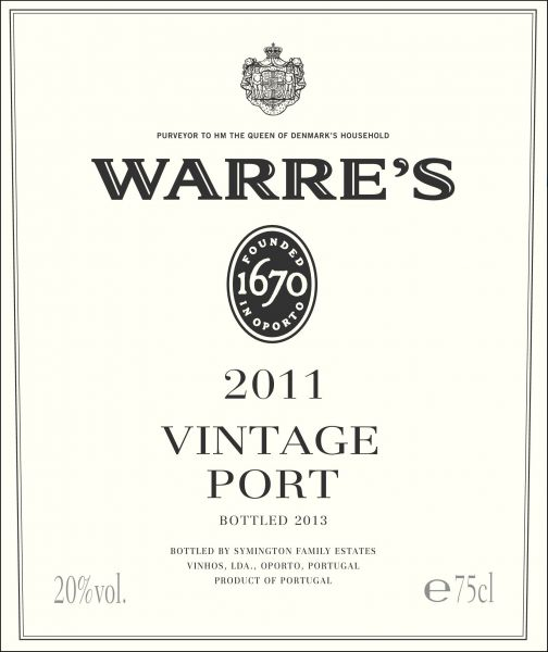 Warre Vintage Port 2011